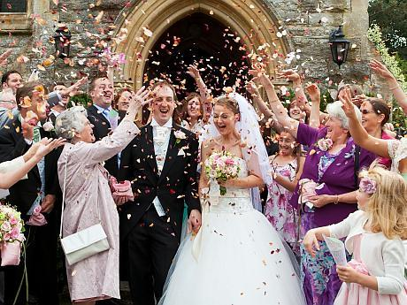 Allan and Samantha Sherring real flower petal confetti throw