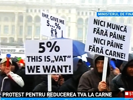 Protest taie TVA