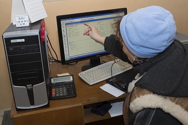 siloz cu comenzi pe computer