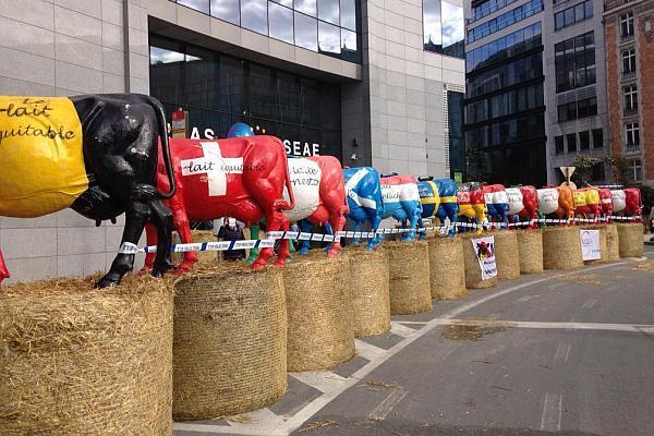 vacile de protest la Bruxelles