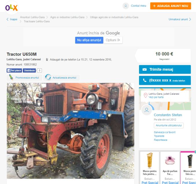 anunt-tractor-olx