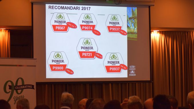 recomandari hibrizi Pioneer in 2017