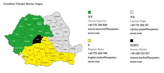 Date de contact Karpaten Meat Angus Vanzari