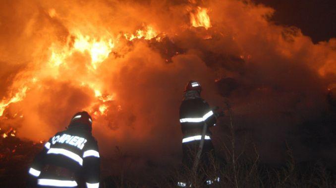 Incendiu in ferma
