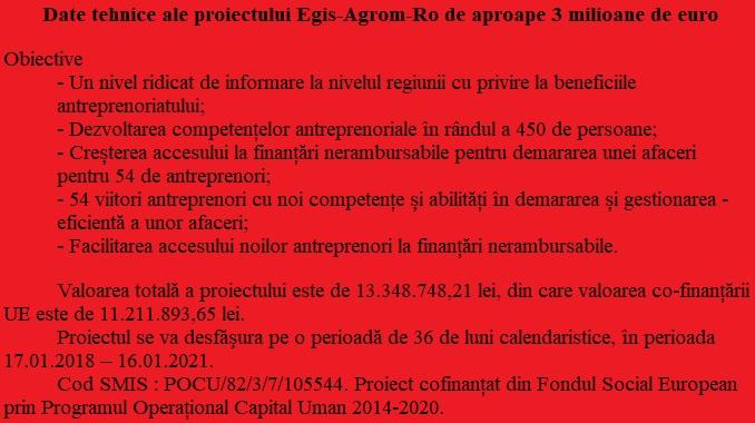 Date tehnice proiect Egis Agrorom ro