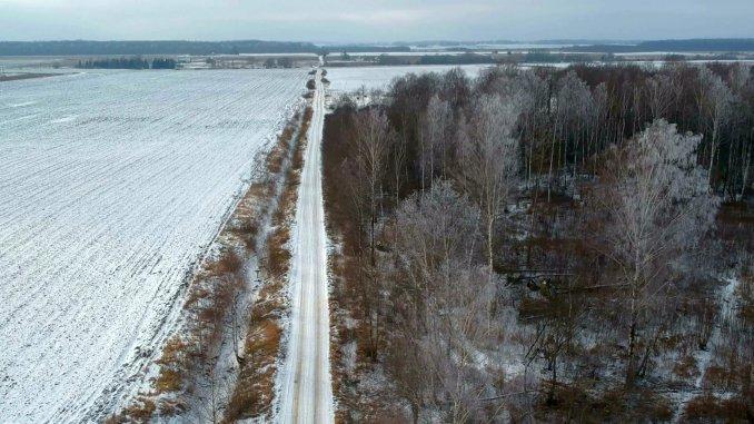 Teren agricol iarna