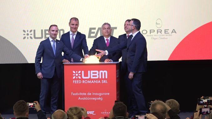Inaugurarea fabricii de nutrețuri de la Sânpaul